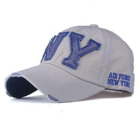 NY Army Baseball Cap-Caps-F2 BEIGE-Adjustable-InCrate.store