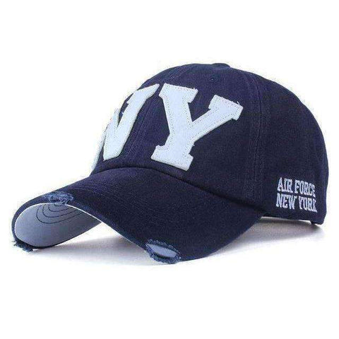 NY Army Baseball Cap-Caps-F2 NAVY-Adjustable-InCrate.store