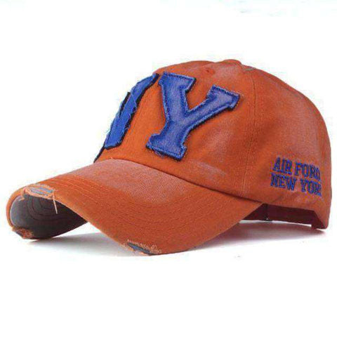 NY Army Baseball Cap-Caps-F2 ORANGE-Adjustable-InCrate.store