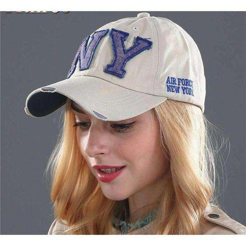 NY Army Baseball Cap-Caps-F2 BLACK-Adjustable-InCrate.store