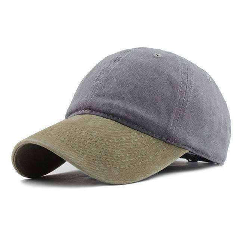 Washed Denim Cap-F240 Beige Gray-Adjustable-InCrate.store