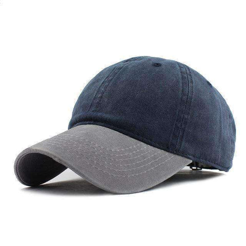 Washed Denim Cap-F240 Gray Navy-Adjustable-InCrate.store