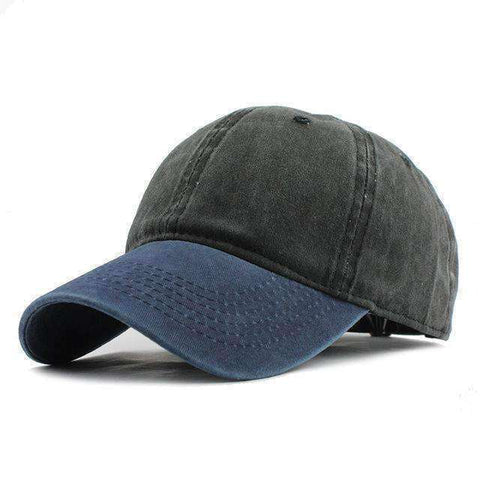 Washed Denim Cap-F240 Navy Black-Adjustable-InCrate.store