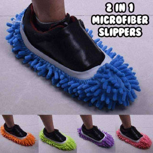 2-In-1 Microfiber Cleaning Mop Slippers (2 Pieces/1 Set)