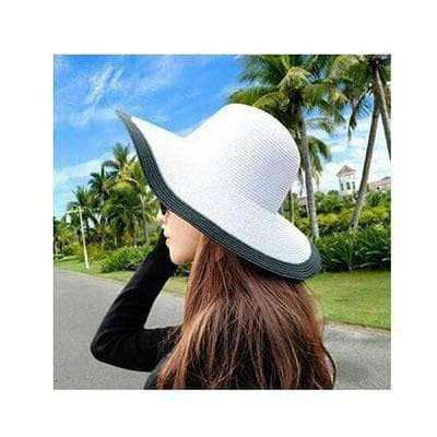 Image of Large Brimmed Straw Hats-Hats for Her-1-InCrate.store