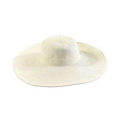 Image of Large Brimmed Straw Hats-Hats for Her-Milk white-InCrate.store