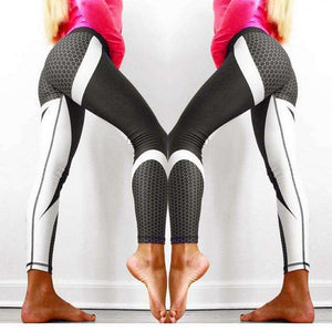 Honeycomb Printed Yoga Leggings