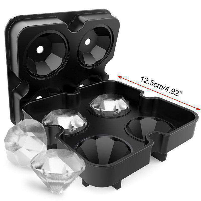 3D Diamond Silicone Ice Molds-Kitchenware-InCrate.store
