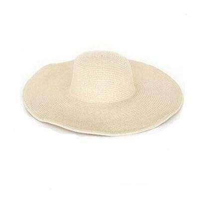 Image of Large Brimmed Straw Hats-Hats for Her-Beige-InCrate.store