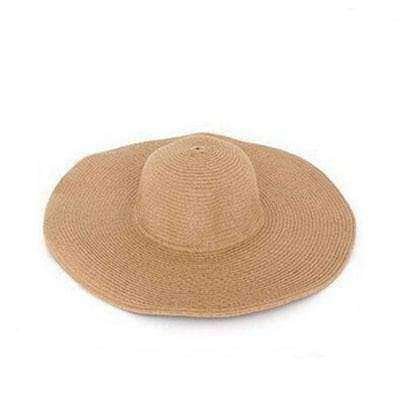 Image of Large Brimmed Straw Hats-Hats for Her-Khaki-InCrate.store