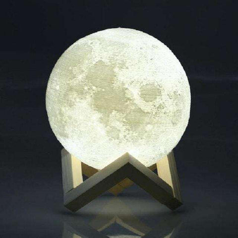 Image of 3D Moon Lamp-Lighting-8cm-InCrate.store