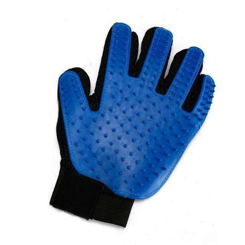 Image of Pet Grooming Glove-Pet Supplies-Left Hand Blue-InCrate.store