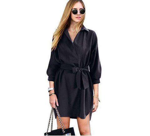 Image of Summer Trench Coat-Women's Clothing-Black-M-InCrate.store