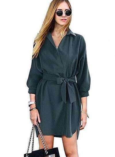 Summer Trench Coat-Women's Clothing-Army Green-S-InCrate.store