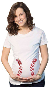 Baseball Stitches Maternity T-shirt