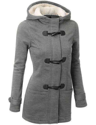 Hooded Winter Parka Jacket-Women's Clothing-Gray-S-InCrate.store