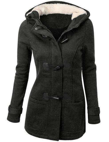 Hooded Winter Parka Jacket-Women's Clothing-Dark Grey-S-InCrate.store
