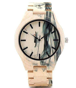 Ink Painting Maple Wood Watch