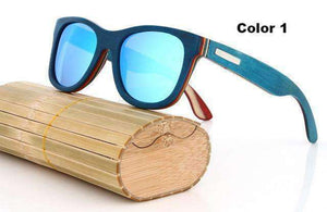 Polarized Designer Wooden Sunglasses (15 Colors)