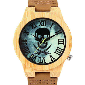 Cool Skull Luminous Wooden Watches
