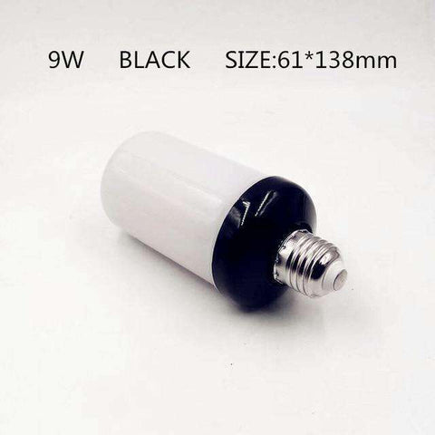 LED Flame Lamps-Lighting-9W Black Shell-E14-InCrate.store