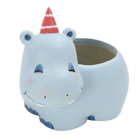 Image of Cute Animal Planters-Gift Ideas-Hippo-One size-InCrate.store