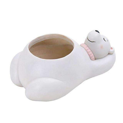 Image of Cute Animal Planters-Gift Ideas-Polar Bear-One size-InCrate.store