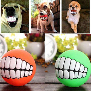 Dog Ball With Teeth (Ultra-thick With Chew Sounds)