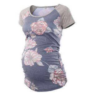 Comfortable Flower Printed Maternity T-shirt