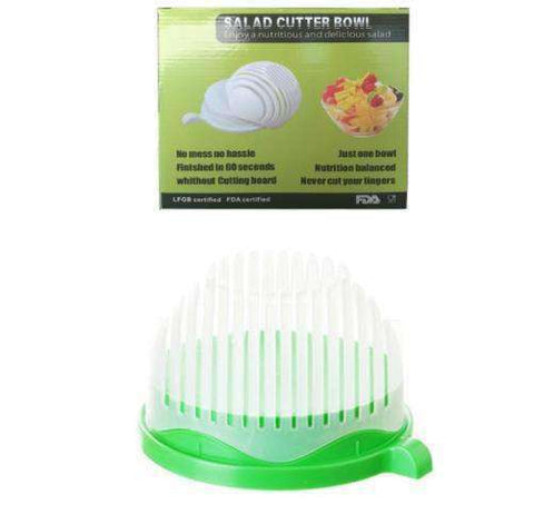 Image of Smart Salad Cutter Bowl-Kitchenware-Green-InCrate.store