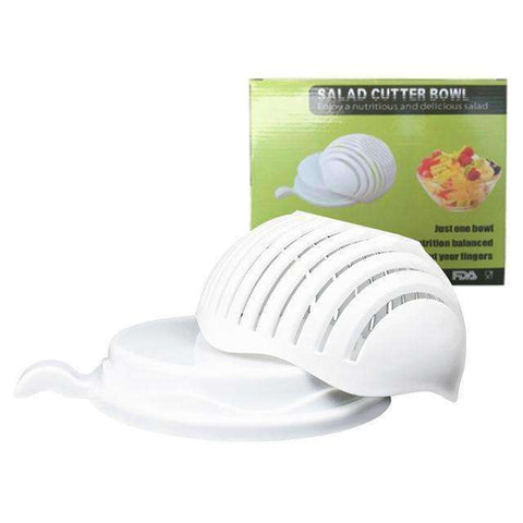 Image of Smart Salad Cutter Bowl-Kitchenware-White-InCrate.store