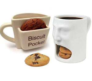 Coffee Mug with Biscuits Pocket