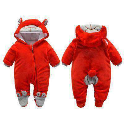 Bear Hooded Rompers For Newborn Baby-Babies & Kids-Zipper Red Bear-3M-InCrate.store