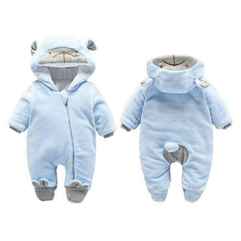 Bear Hooded Rompers For Newborn Baby-Babies & Kids-Zipper Blue Bear-3M-InCrate.store