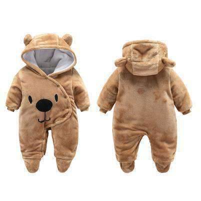 Bear Hooded Rompers For Newborn Baby-Babies & Kids-Brown Bear-3M-InCrate.store