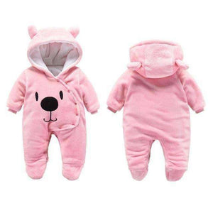 Bear Hooded Rompers For Newborn Baby
