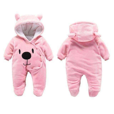 Bear Hooded Rompers For Newborn Baby-Babies & Kids-Pink Bear-3M-InCrate.store