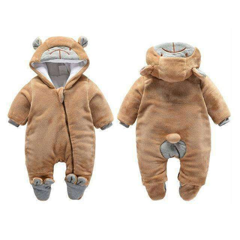 Bear Hooded Rompers For Newborn Baby-Babies & Kids-Zipper Brown Bear-3M-InCrate.store