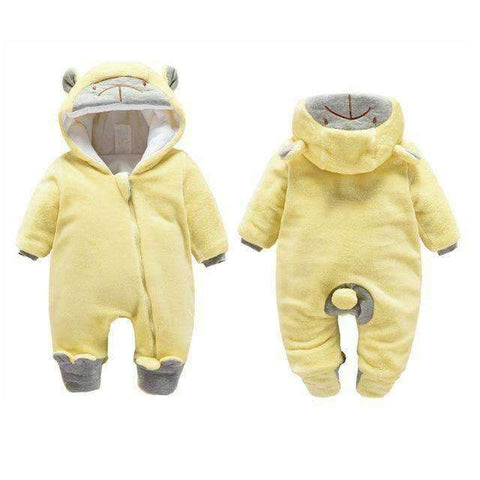 Bear Hooded Rompers For Newborn Baby-Babies & Kids-Zipper Yellow Bear-3M-InCrate.store