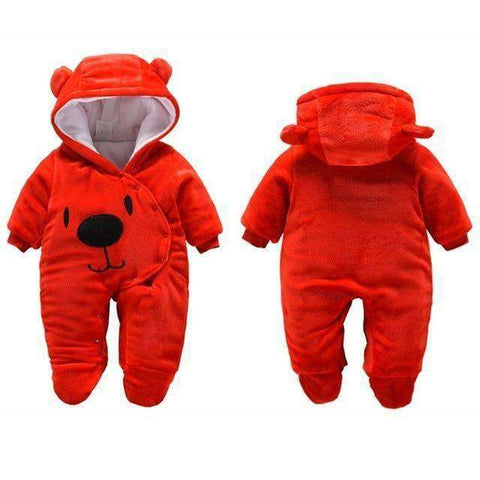 Bear Hooded Rompers For Newborn Baby-Babies & Kids-Red Bear-3M-InCrate.store