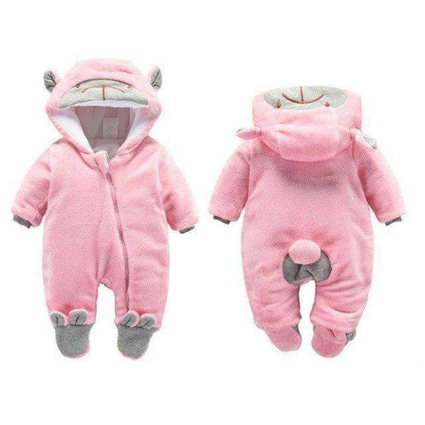 Bear Hooded Rompers For Newborn Baby-Babies & Kids-Zipper Pink Bear-3M-InCrate.store