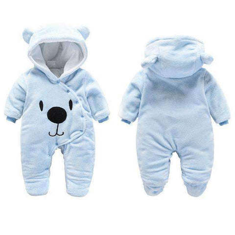 Bear Hooded Rompers For Newborn Baby-Babies & Kids-Blue Bear-3M-InCrate.store