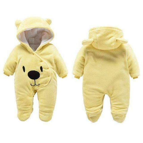 Bear Hooded Rompers For Newborn Baby-Babies & Kids-Yellow Bear-3M-InCrate.store