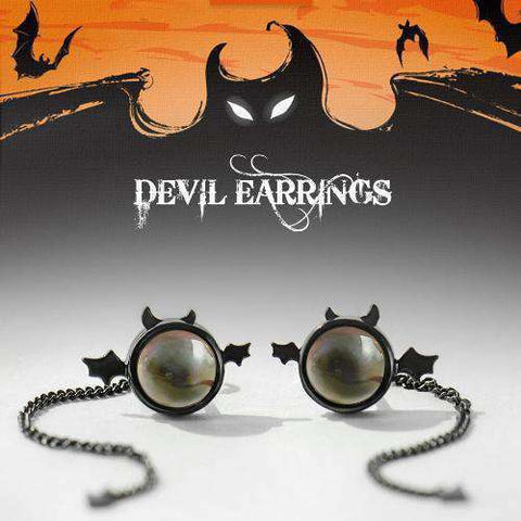 Devil Dangler Earrings-Earrings-InCrate.store