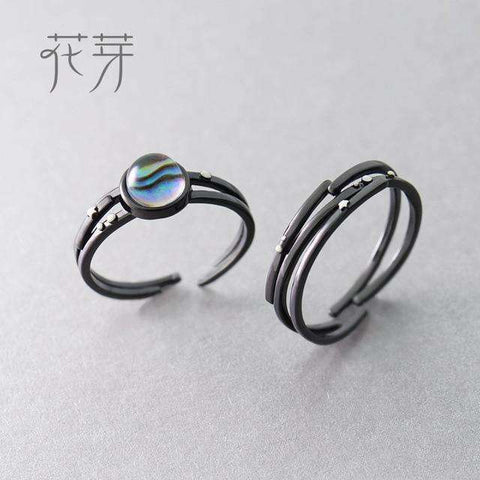 Image of Milky Way and Star Trails Rings-Rings-Resizable-Crystal and Trail RIngs-InCrate.store