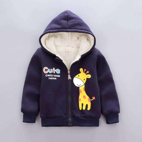 Image of Kids' Hooded Velvet Jackets-Babies & Kids-Deep blue-12M-InCrate.store