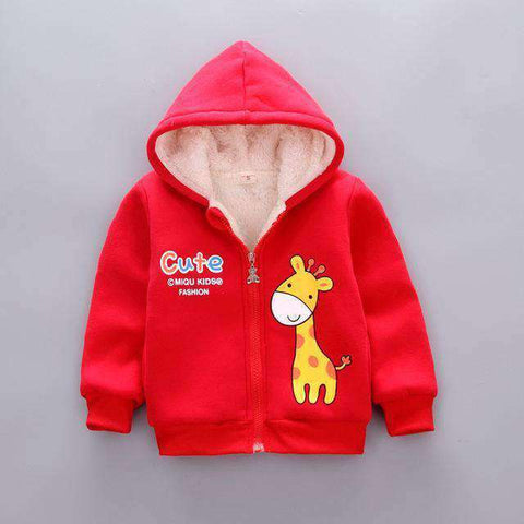 Kids' Hooded Velvet Jackets-Babies & Kids-Red-12M-InCrate.store