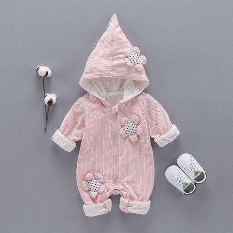 Image of Fashion Baby Girls Romper-Babies & Kids-Pink-3M-InCrate.store