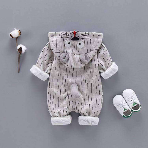 Image of Tiger Baby Romper-Babies & Kids-Gray-3M-InCrate.store