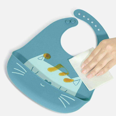 Image of Neko Baby Silicone Bibs-Babies & Kids-Blue-InCrate.store